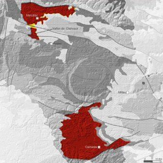 Carte de géologie des Rougiers