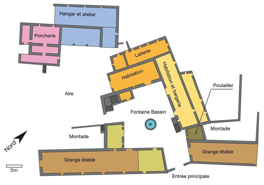 Plan d'un Grand domaine du Lévézou